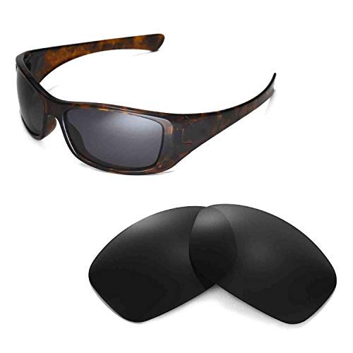 Walleva Replacement Lenses for Oakley Hijinx Sunglasses - Multiple Options Available (Black - ()