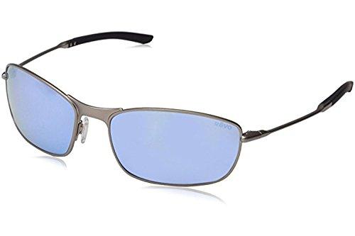Revo Thin Shot RE 3090 02 BL Polarized Wrap Sunglasses,Matte Gunmetal,60 - Sunglass Revo