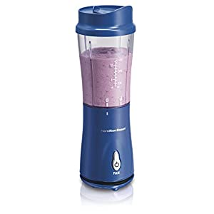 Hamilton Beach Personal Single Serve Blender with Travel Lid, Blue (51132)