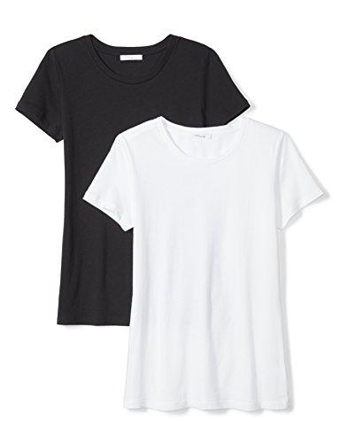 Daily Ritual Women's Tissue Cotton Short-Sleeve Crew Neck T-Shirt, 2-Pack, L, (Crew Tissue)