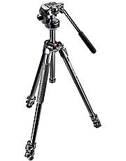 Manfrotto MK290XTA3-2W 290 Xtra Fluid Video Head Kit - (International Version, No AU warranty)  (Black)