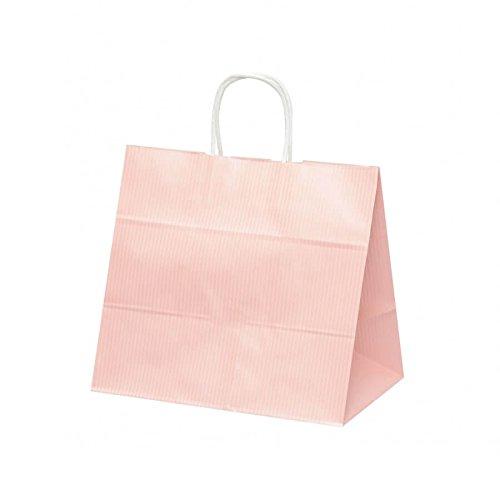 【ケース販売】 手提袋 HV75 クリスタルピンク 巾:340×:220×高さ:315㎜ 200枚(50枚×4包) B079ZQH5TT
