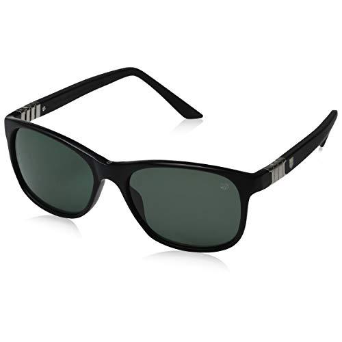 - TAG HEUER 66 9382 301 541703 Oval Sunglasses, Black, 54 mm