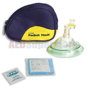 Laerdal Pocket Mask w/Gloves & Wipe in Blue Soft Pack - 82004033 ()