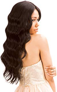 - New Born Free Human Hair Blend Lace Front Wig Magic Lace U-Shape Lace Wig MLUH94 (1B)