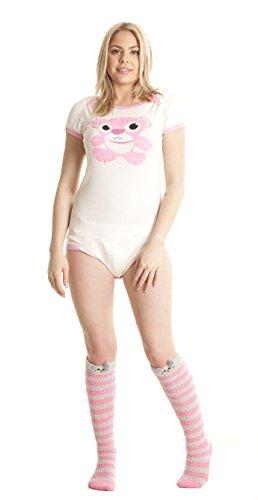 Pink Teddy Bear Onesie (Small)