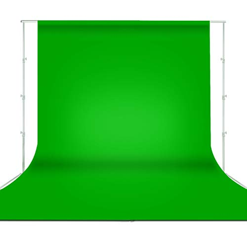 Limo Studio 5 x 10 Ft. Green Fabricated None Gloss Backdrop Background...