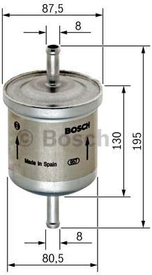 Bosch Genuine Replacement Fuel filter 0450905216