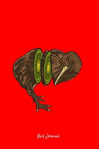 Bird Journal: Dot Grid Journal - Kiwi Bird Funny Fruit Animal Jokes Humor Pun Lover Gift - Red Dotted Diary, Planner, Gratitude, Writing, Travel, Goal, Bullet Notebook - 6x9 120 pages ()
