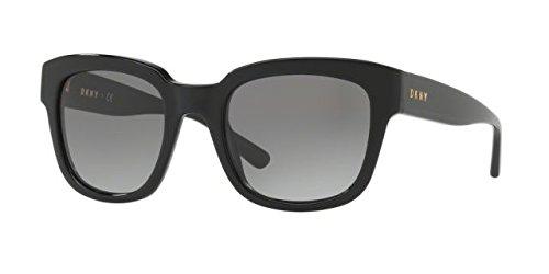 DKNY Women's Plastic Woman Rectangular Sunglasses, Black, 52 - Sunglasses Ladies Dkny