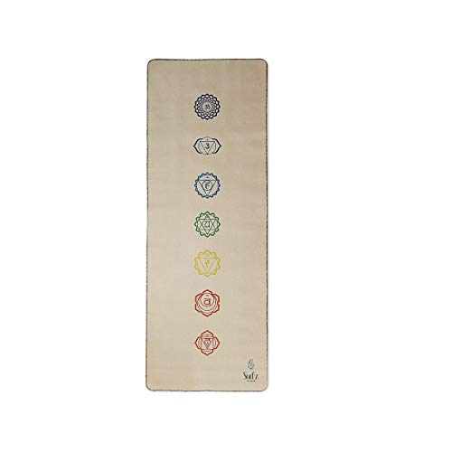 Sud z Yoga Mat, Natural Eco-Friendly Hemp Finish, Light-Weight, Non-Slip Absorbent Yoga mat Made Suitable for All Types of Yoga Comes with a Carry Stretching Strap
