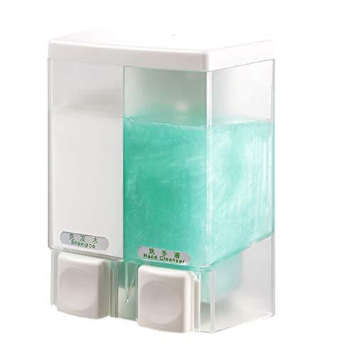 YSXZM Duo Soap Dispenser Wall Mounted Shower Lotion Dispenser Hotel Manual Shower Gel Bottlebox Double-Head Soap Dispenser