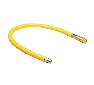 T&S Brass HG-4C-36 Gas Hose with Quick Disconnect, 1/2-Inch Npt and 36-Inch Long