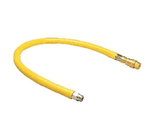 T&S Brass HG-4D-36 Gas Hose with Quick Disconnect, 3/4-Inch Npt and 36-Inch Long by T&S Brass