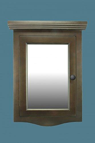 ... Corner Medicine Cabinet Dark Brown Oak Hardwood Wall Mount Recessed  Mirror Easy Clean. $179.00 ...