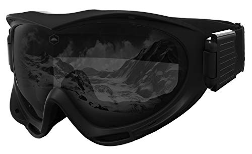 - Tough Outdoors Ski & Snowboard Goggles - Snow Goggles for Skiing, Snowboarding, Motorcycling & Winter Sports - Anti-Fog & Helmet Compatible - UV400 Protection - Fits Men, Women & Youth