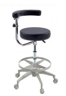 Assistant's Stool - Premium Dental Assistant's Stool, Black by Certified Dental Supply