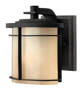 Museum Bronze Outdoor Sconce (Hinkley Lighting 1126MR-GU24 Ledgewood 1 Light Outdoor Wall Sconce In Museum Bronze With Champagne Inside Etched Glass)