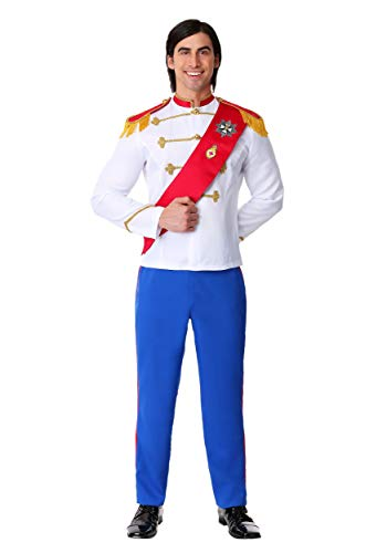 Men's Plus Size Charming Prince Costume 3X White -
