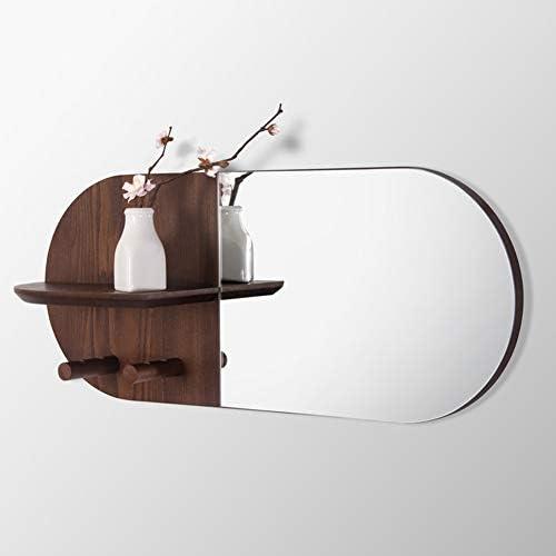ZEMIN コートラック ウォールコートラック服帽子ハンガーホルダーフックソリッドウッドツリーブランチミラー北ヨーロッパ、2色有り、59x25x12CM (色 : Brown)