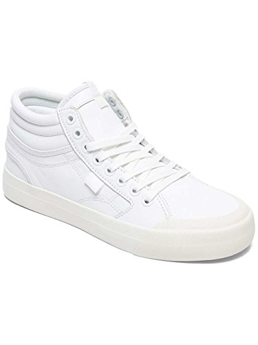 DC Shoes Evan Hi - High-Top Leather Shoes for Women ADJS300189 White/White 86b5k
