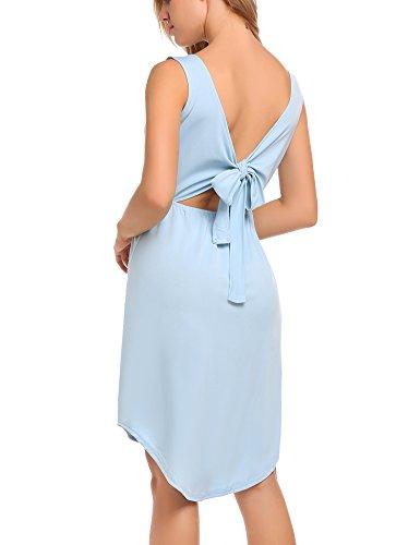Open Back Tie Dress - 4