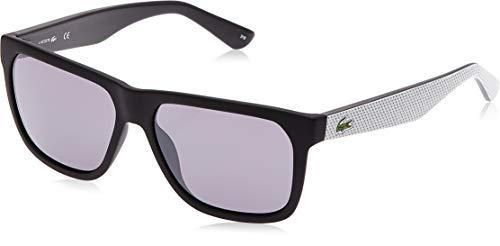 Lacoste L732S Wayfarer Sunglasses, Black/Grey, 56 mm (Sunglasses Lacoste Black)