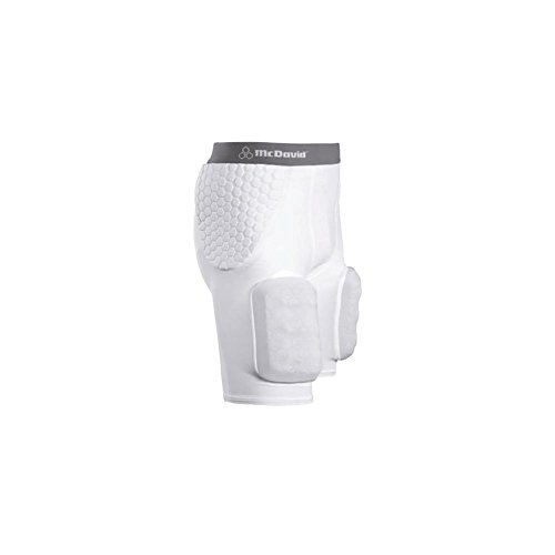 - McDavid Classic Logo 7555YC CL Youth Hexpad Girdle With Hardshell Thigh Guard-White-XL