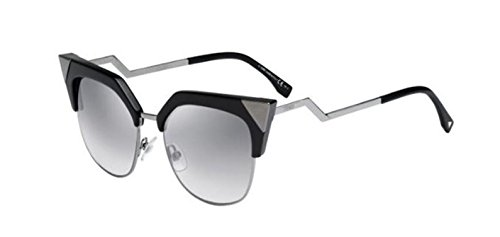 Fendi IRIDIA FF 0149/S KKL/IC Black Dark Ruthenium/Gray Mirror Shade - Fendi Iridia Black