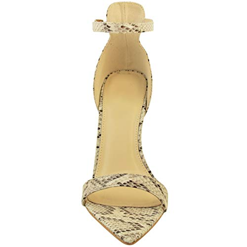 Piel Heelberry Toe Sintética Tacón Verano Afilada Salón Natural De Mujer Punta Fashion Serpiente Alto Thirsty Boda Sandalias Por Fiesta Peep qEvwxUHZ1