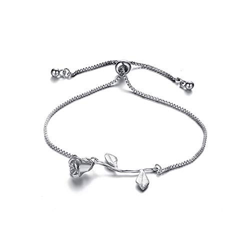 CAIYCAI Adjustable Chain Bracelets for Women Rose Flower for sale  Delivered anywhere in USA
