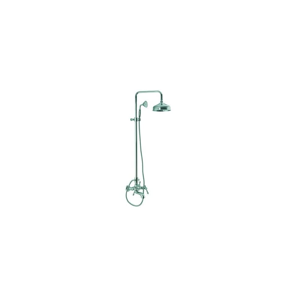 Epoque Wall Mount Thermostatic Tub and Shower Faucet with Hand Shower Finish Chrome