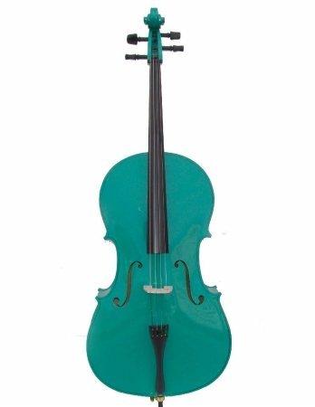 Merano MC100GR Green Cello with Bag and Bow