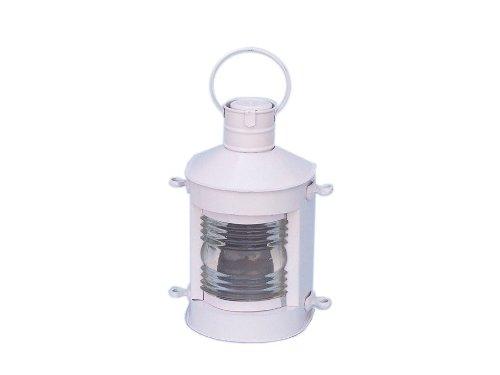 """Hampton Nautical  Iron Masthead Oil Lamp, 12"""", White, Iron"""