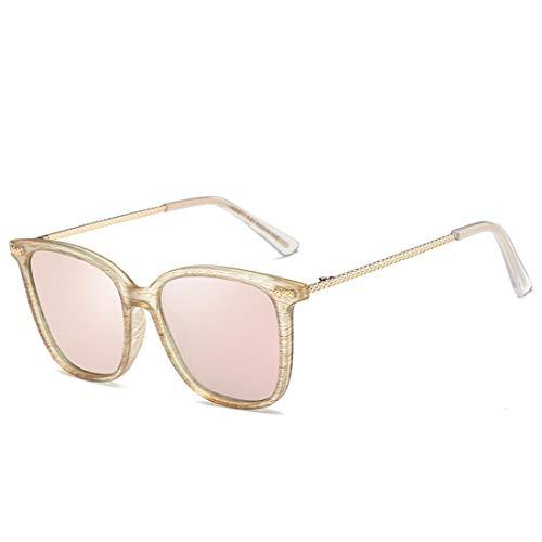 Lens Frame Color Hommes Gradient Vintage de Frame 100 UV Lunettes Sakuldes et pour Gold Bois en Femmes Lens Pink Protection Green 6Rn7gw0q