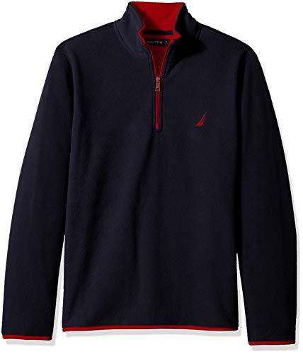 Nautica Men's Basic Nautex Half-Zip Sweatshirt, Navy, Large (Nautica Sweater Men)