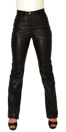 Black Lambskin Leather Pants - NDK New York Women's Lambskin Leather Pants Sexy Style Without Pockets