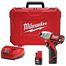 Milwaukee Electric Tool 2462-22 M12 Impact Driver Kit