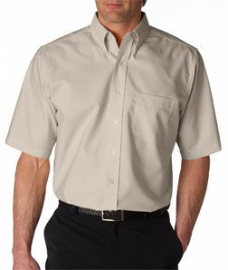 8e4f819a9 UltraClub Men's Classic Wrinkle-Free Short-Sleeve Oxford (TAN) (Large) - Buy  Online in Oman. | Apparel Products in Oman - See Prices, Reviews and Free  ...