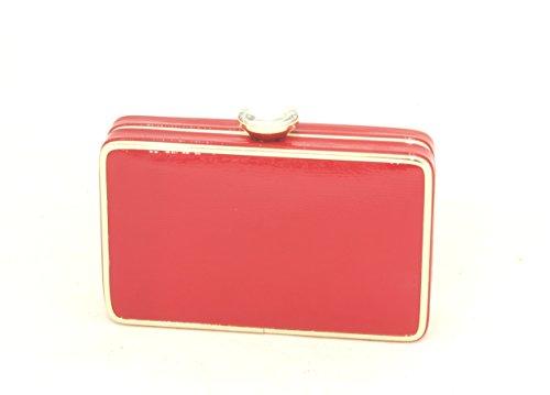 AwAy bolsa de embrague de charol brillante con correa para el hombro polso bag clutch diamond pochette Rojo
