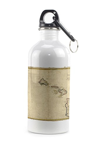Hawaiian Islands - (1837) - Panoramic Map (20oz Stainless Steel Water Bottle w/ - 1837 Map
