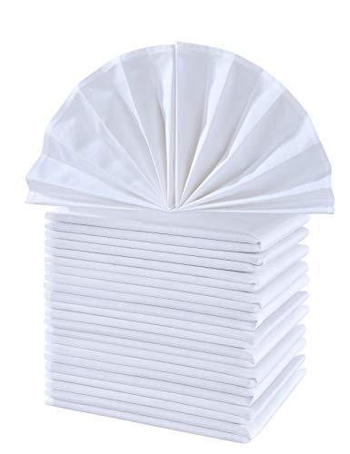 - CIELTOWN Cotton Cloth Dinner Napkins 1 Dozen (White, 17