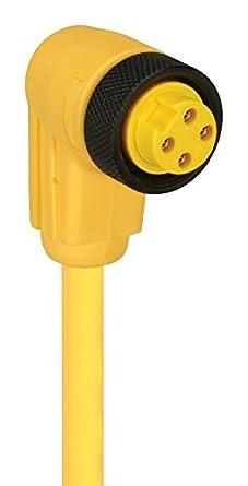 13.1 ft Mini 7//8 inch Sensor Straight 4 Position Plug LUMBERG AUTOMATION RK40-839//4M Sensor Cable 4 m Free End
