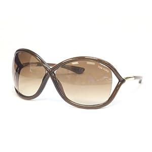 Tom Ford Women's FT0009 Sunglasses, Brown