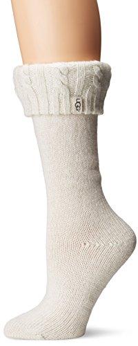 Ugg Women's Sparkle Tall Rainboot Sock, Winter White/Silv...