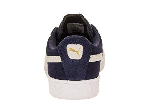 PUMA Suede JR Classic Kids Sneaker (Little Kid/Big Kid), Peacoat/Team Gold, 4 M US Big Kid by PUMA (Image #3)