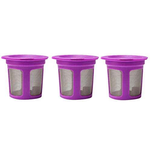 ee Filter Pulison Reusable Coffee Capsule Make Plastic Reusable Drip Cone Coffee Filter, Single Cup Coffee Brewer (Purple) ()