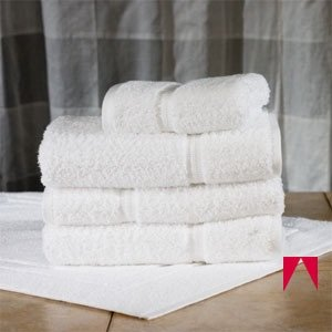 AMERICAN HOTEL REGISTER - Registry ® Gold 86% Cotton/14% Polyester, Dobby Border, 27 Inch X54 Inch, White 17# (12 Bath Towels). Usually ships within 1-5 business days unless there is a problem.