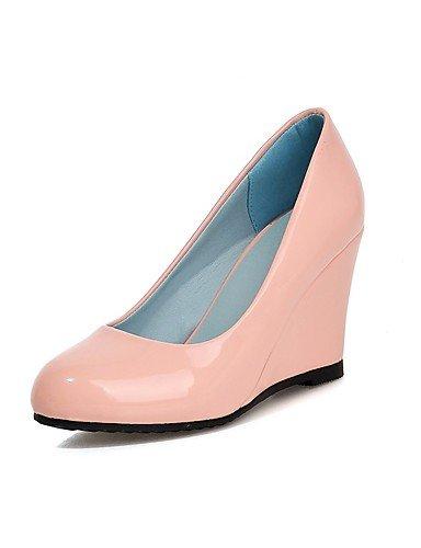 Mujer us8 Vestido Rosa Blanco boda Pink 5 Cn38 Punta tacón Uk5 confort Uk6 Ggx Redonda 5 tacones semicuero Cuña Eu38 Cn39 negro Black Eu39 us7 F6AAdq