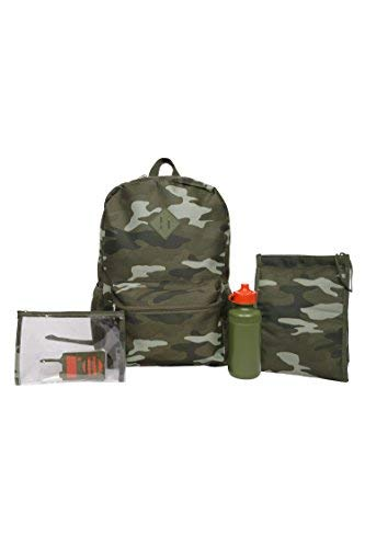 Camo 5 Piece Backpack Set w/Lunch Kit